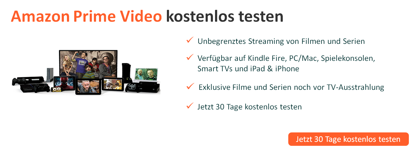 Amazon Prime Video kostenlos testen